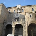 Cattedrale Anagni - sulla facciata in alto: effice di Bonifacio VIII