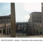 MONTECASSINO - Abbazia - Panoramica sulla scalinat