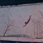 """Affresco murale titolato """"Il nuotatore"""""""