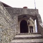 Scalinata che introduce all'entrata del monastero