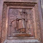 Un particolare del portale